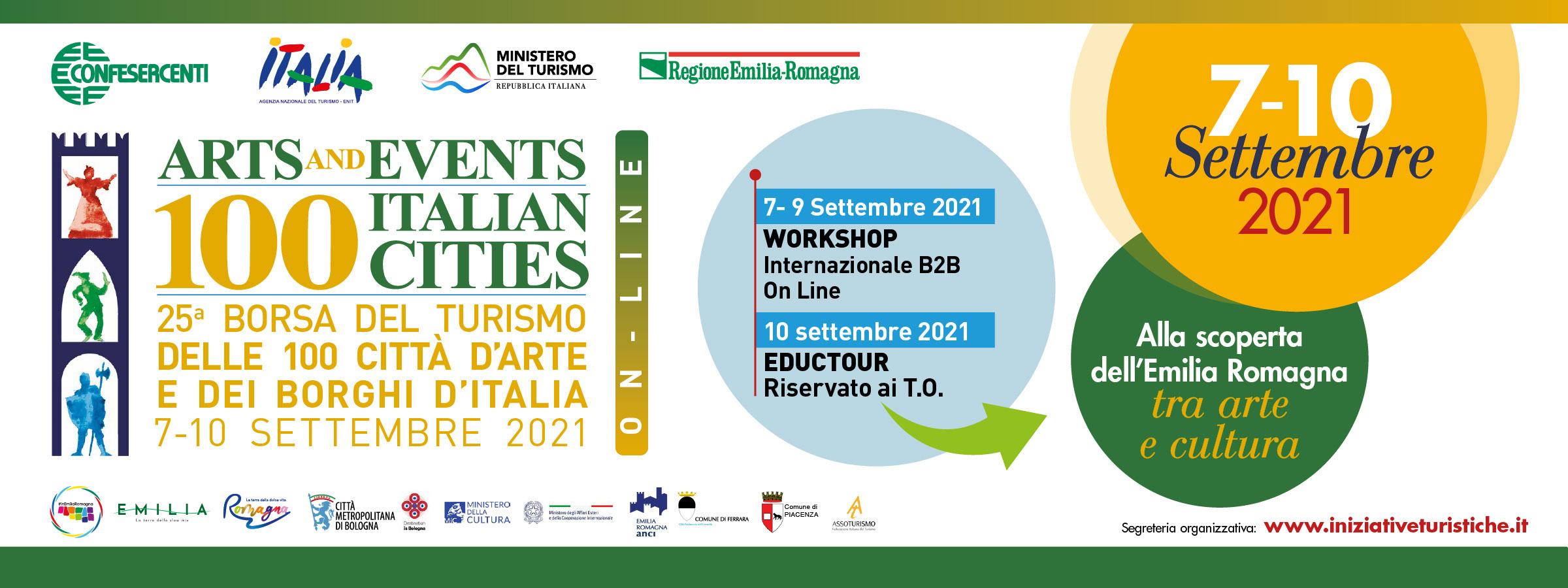 Dal 7 al 10 settembre la 25ª Borsa del turismo delle 100 città d'arte e dei borghi d'italia.
